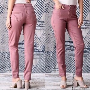 Seven7 High Rise Skinny Mauve Pink Jeans Size 14
